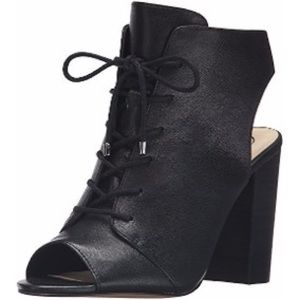 New Jessica Simpson Black Klay Lace Up Booties 6